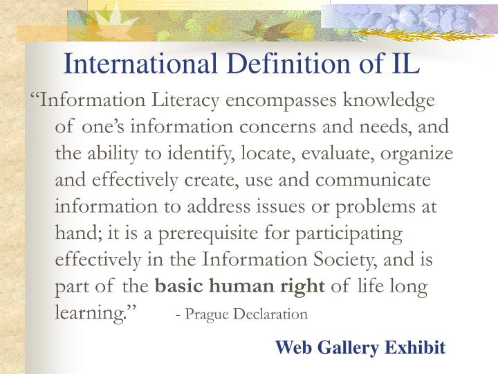 International Definition of IL