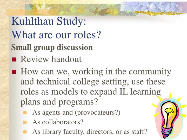 Kuhlthau Study:
