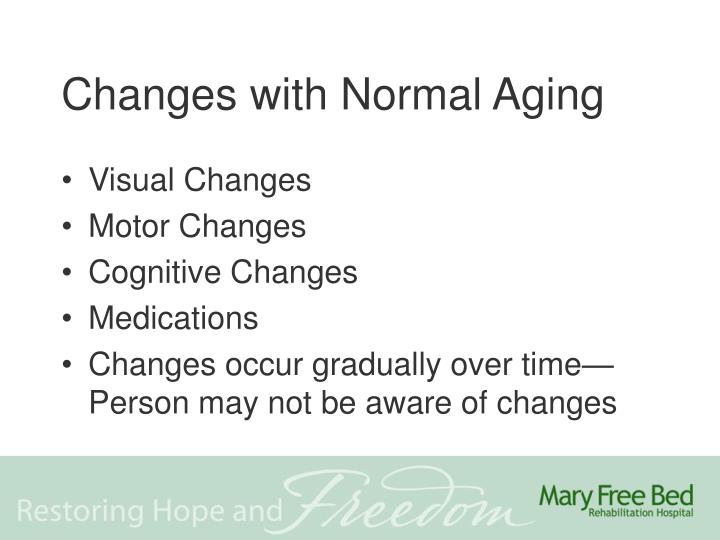 Changes with Normal Aging