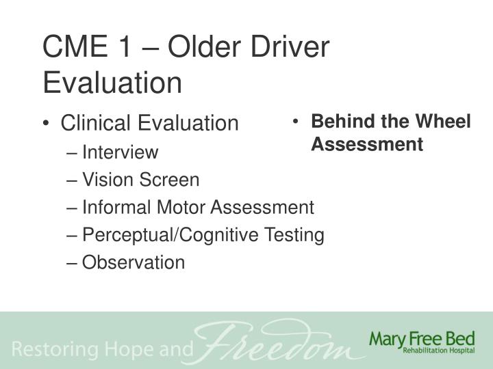Behind the Wheel Assessment
