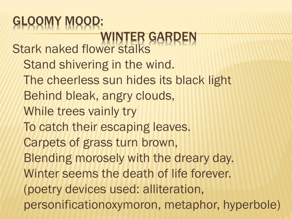 Stark naked flower stalks