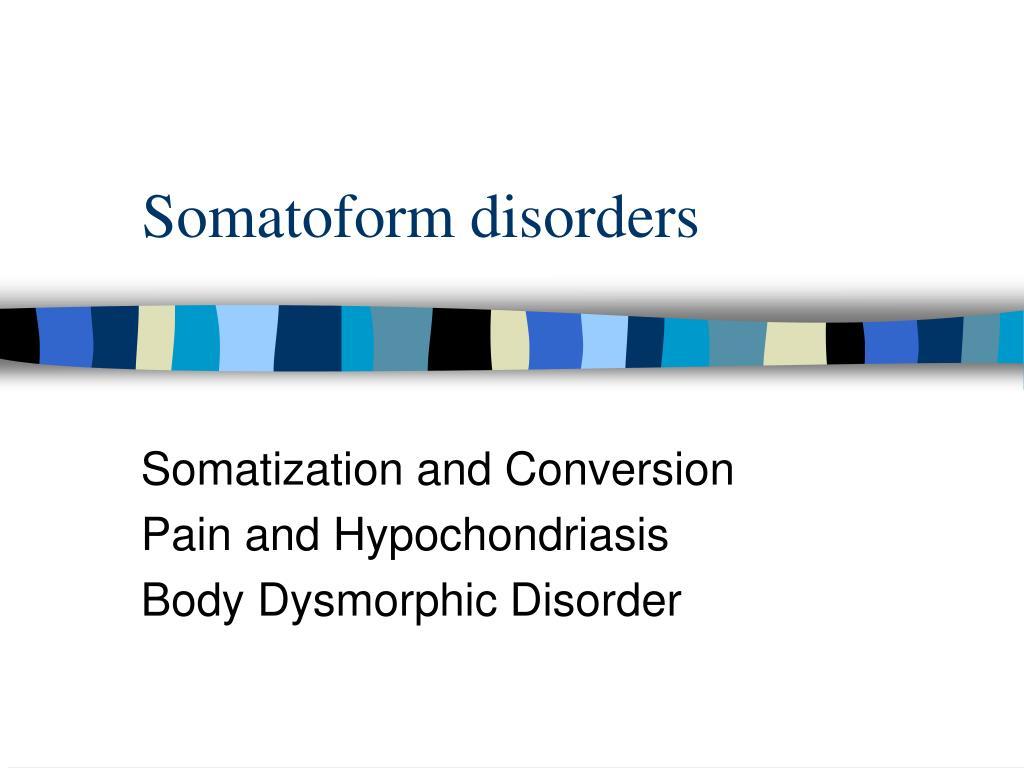 somatoform disorders l.