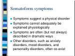 somatoform symptoms