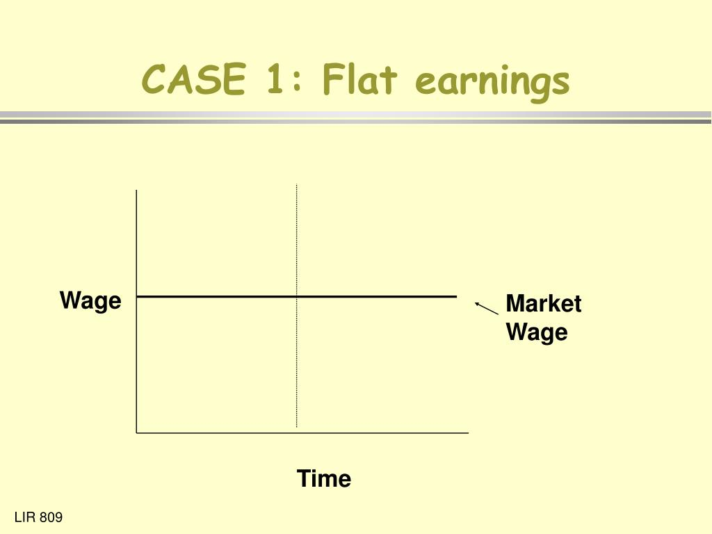 CASE 1: Flat earnings