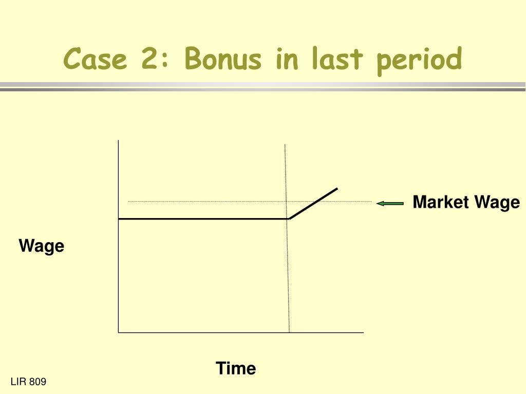 Case 2: Bonus in last period