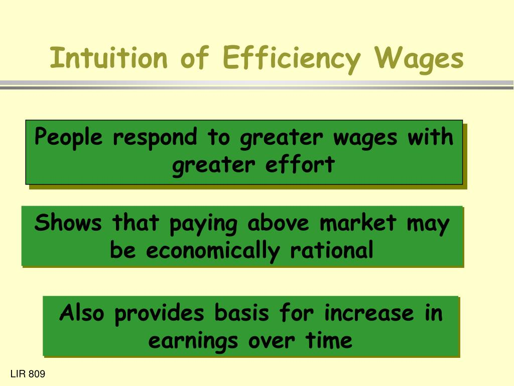 Intuition of Efficiency Wages