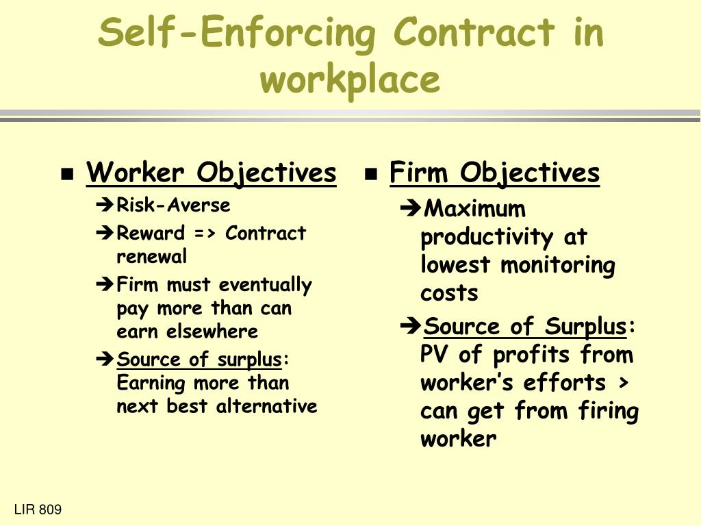 Worker Objectives