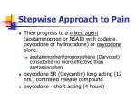 stepwise approach to pain