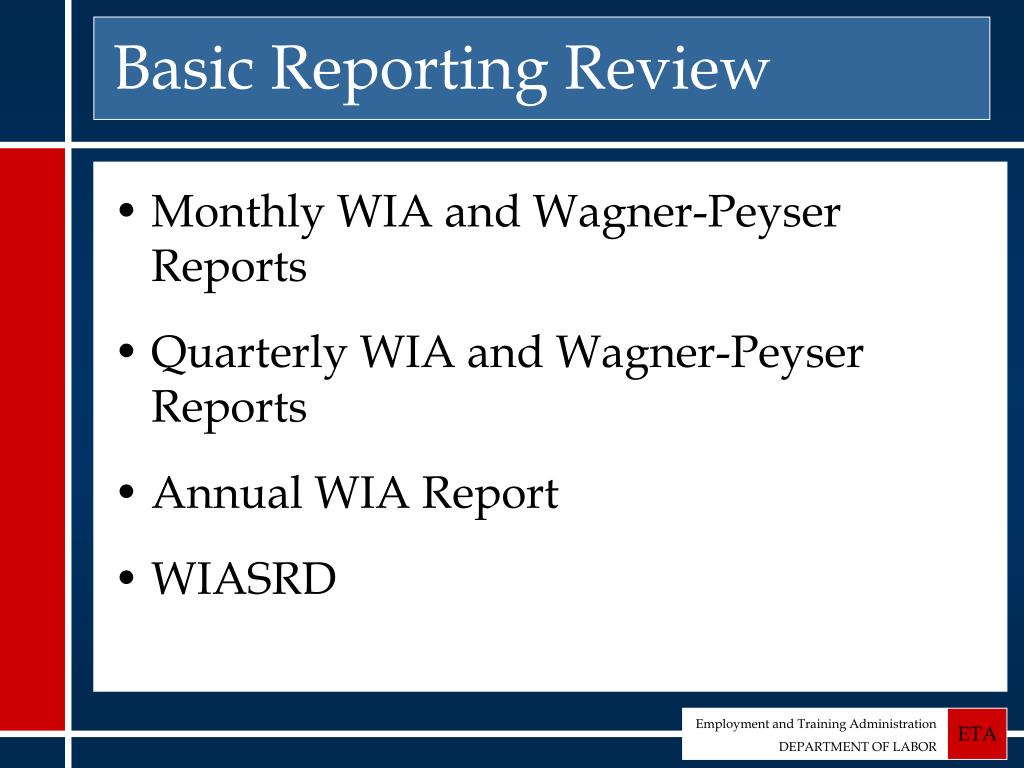 Basic Reporting Review