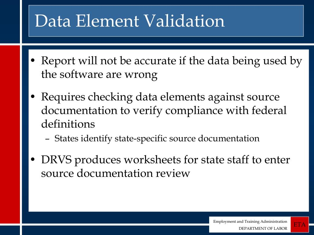 Data Element Validation