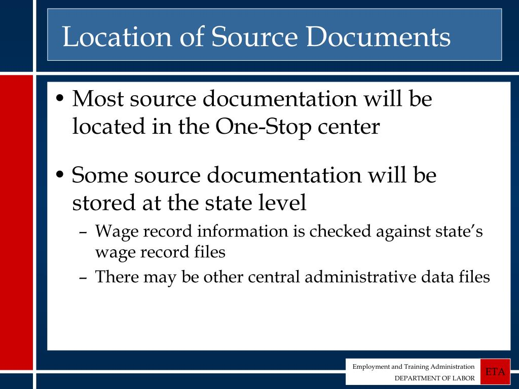 Location of Source Documents