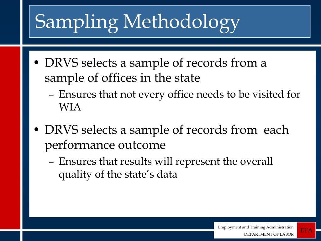 Sampling Methodology