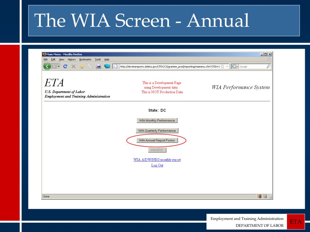 The WIA Screen - Annual