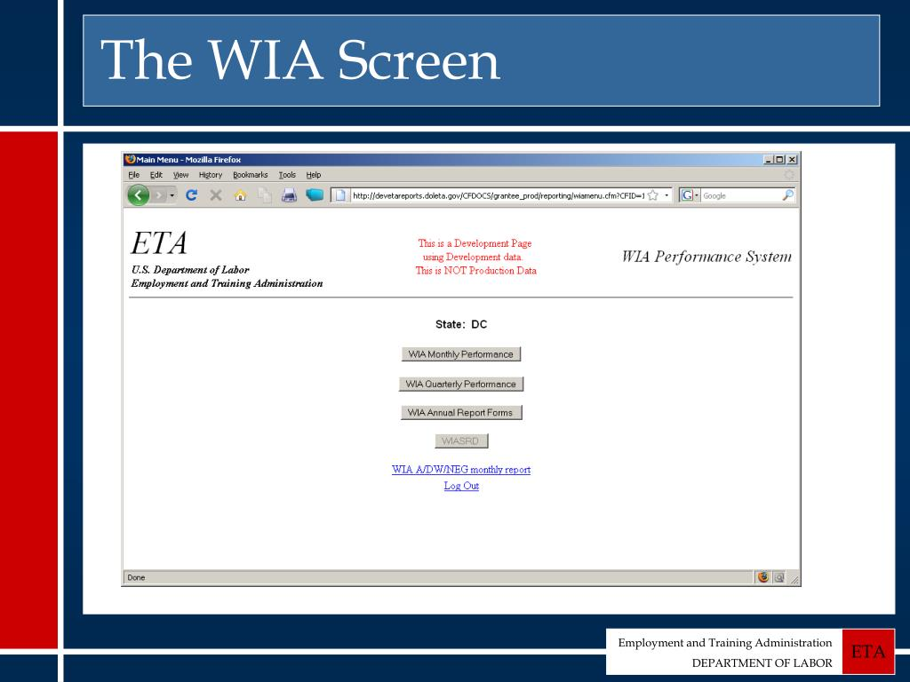 The WIA Screen