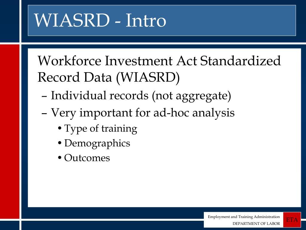 WIASRD - Intro