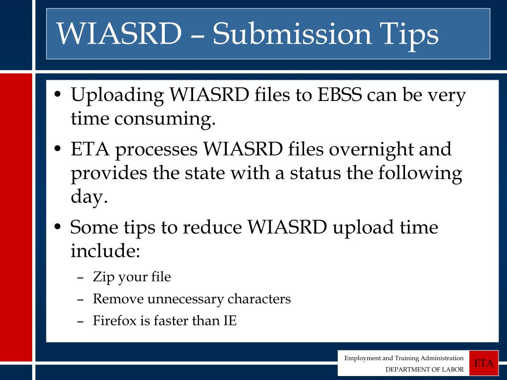 WIASRD – Submission Tips