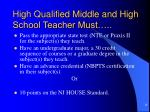 high qualified middle and high school teacher must