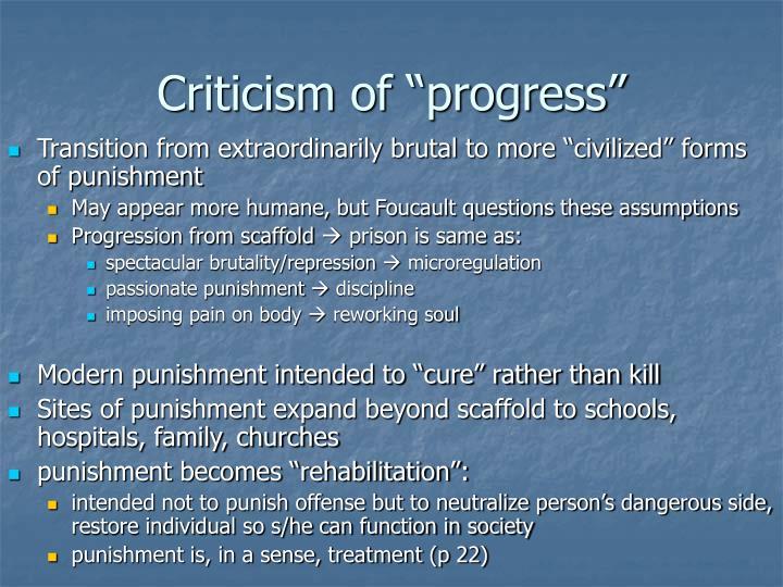 Criticism of progress