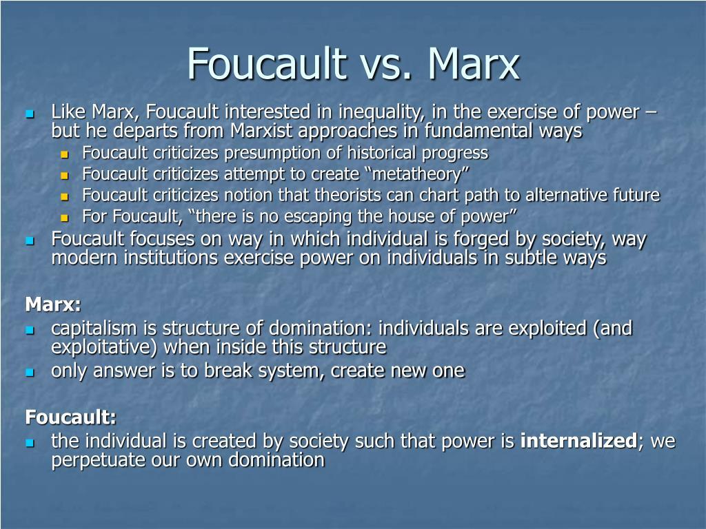 Foucault vs. Marx