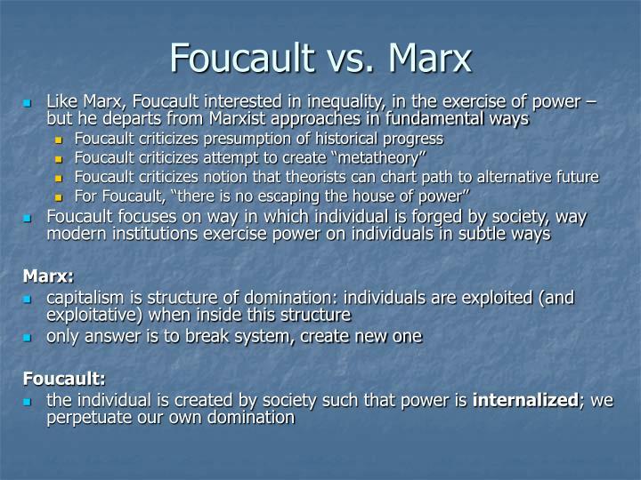 Foucault vs marx