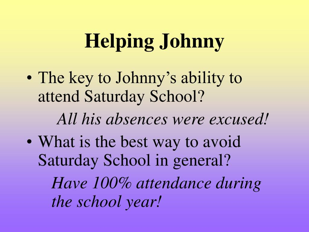 Helping Johnny