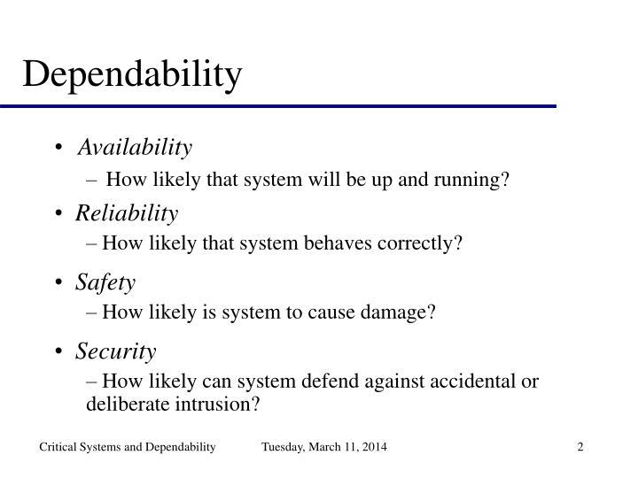 Dependability2