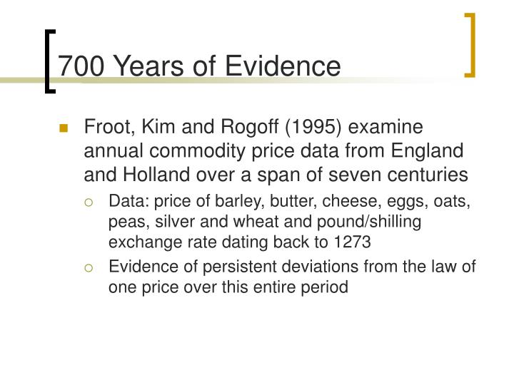 700 Years of Evidence