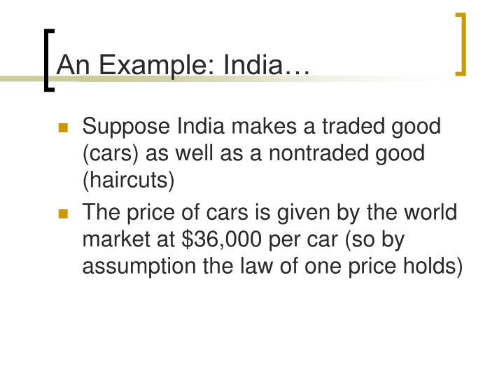 An Example: India…