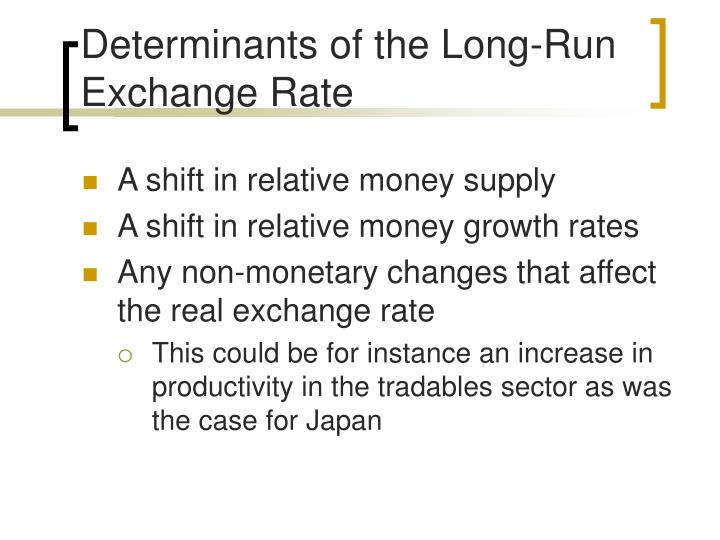 Determinants of the Long-Run Exchange Rate