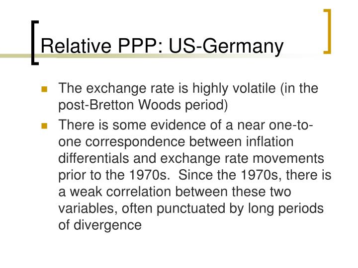 Relative PPP: US-Germany