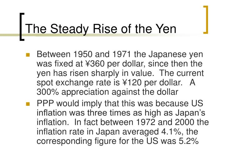 The Steady Rise of the Yen