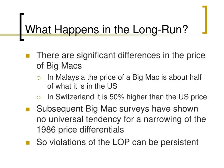 What Happens in the Long-Run?