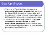 gear up mission