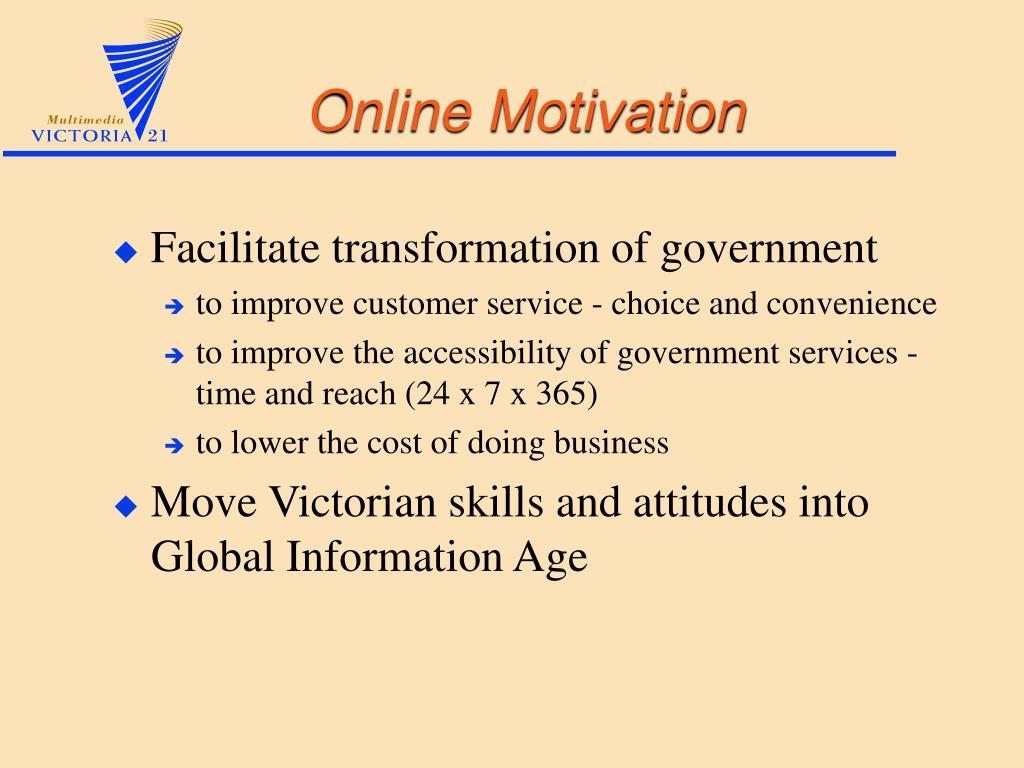 Online Motivation