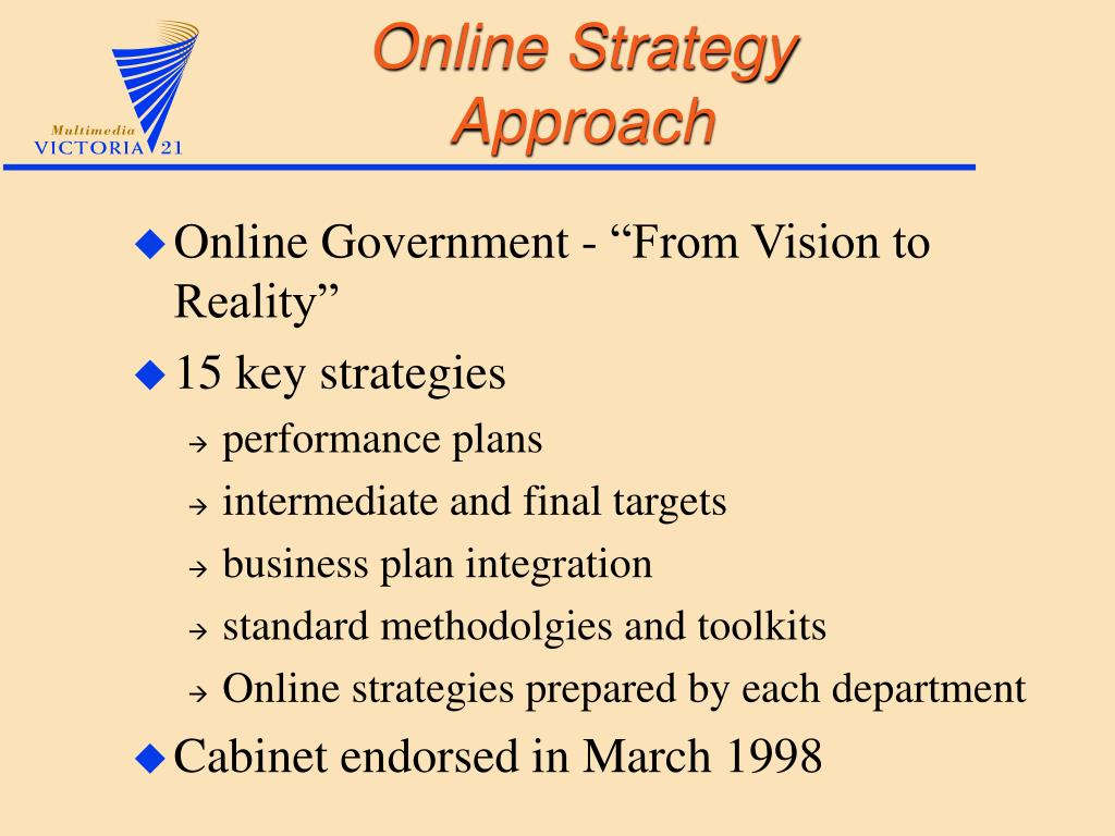 Online Strategy Approach