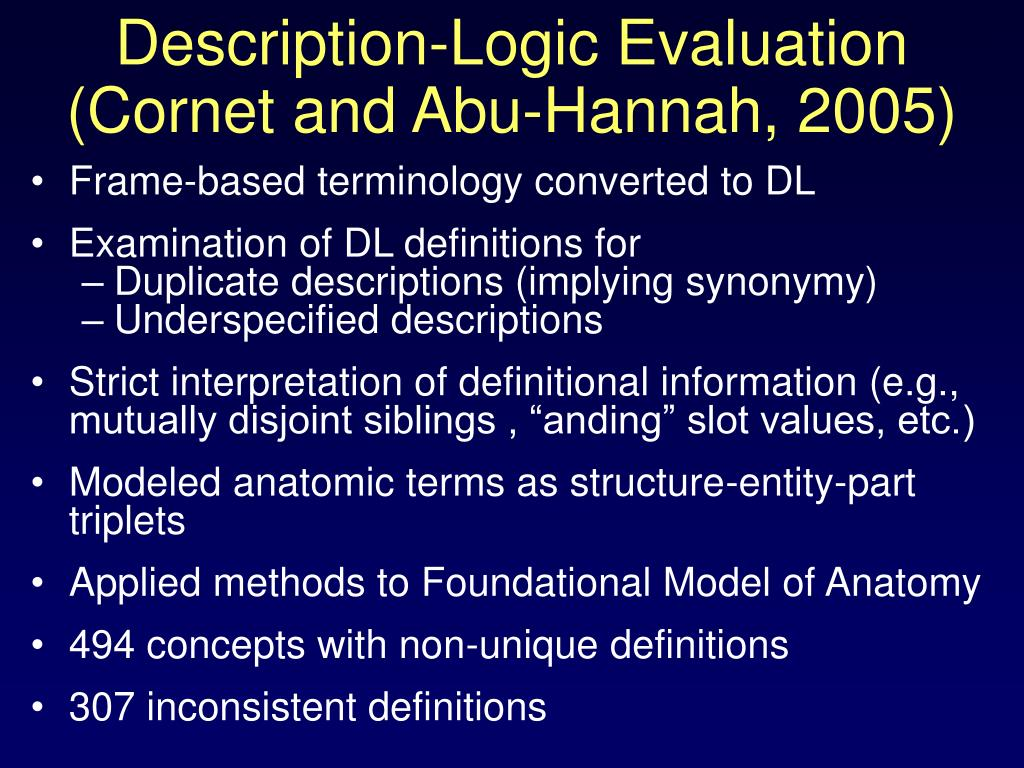 Description-Logic Evaluation