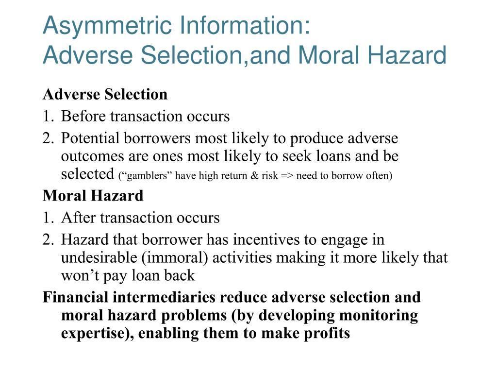 Asymmetric Information: