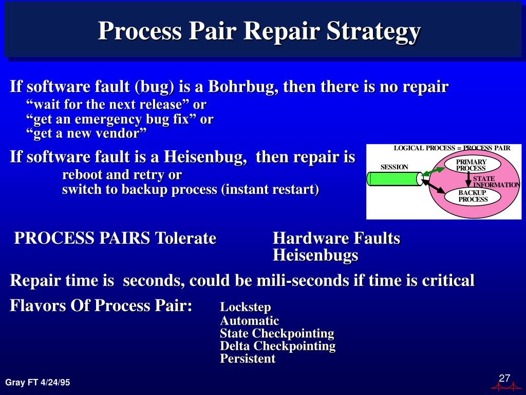 Process Pair Repair Strategy