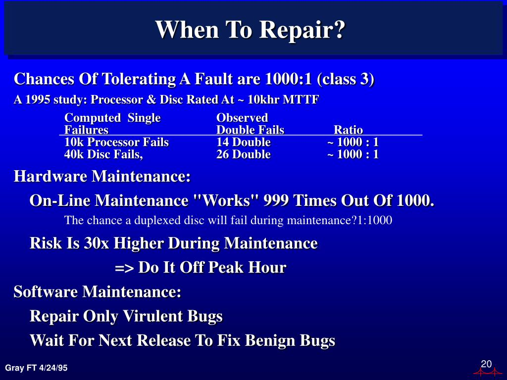 When To Repair?