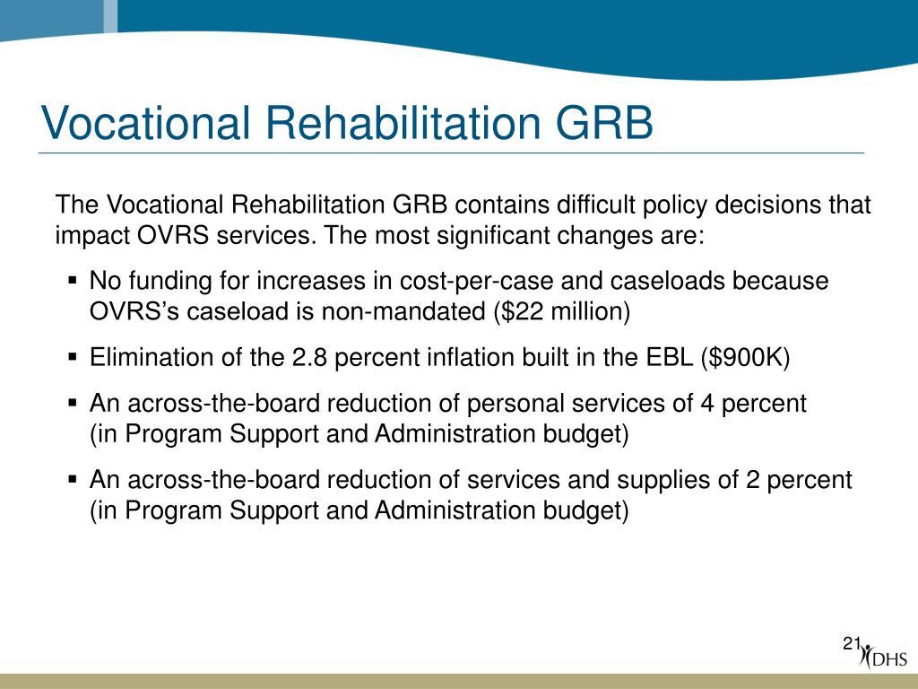 Vocational Rehabilitation GRB