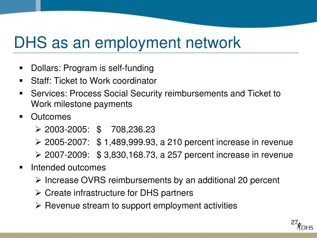 DHS as an employment network