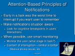attention based principles of notifications