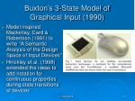 buxton s 3 state model of graphical input 1990