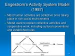 engestrom s activity system model 1987
