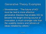generative theory examples