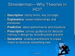 shneiderman why theories in hci