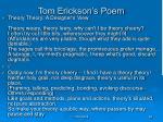 tom erickson s poem