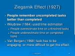 ziegarnik effect 1927