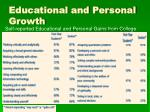 educational and personal growth