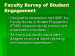 faculty survey of student engagement47